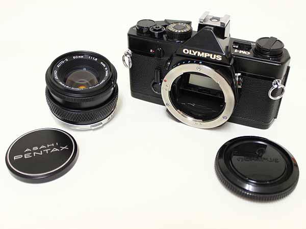 OLYMPUS OM-1ブラック F.ZUIKO 50mm